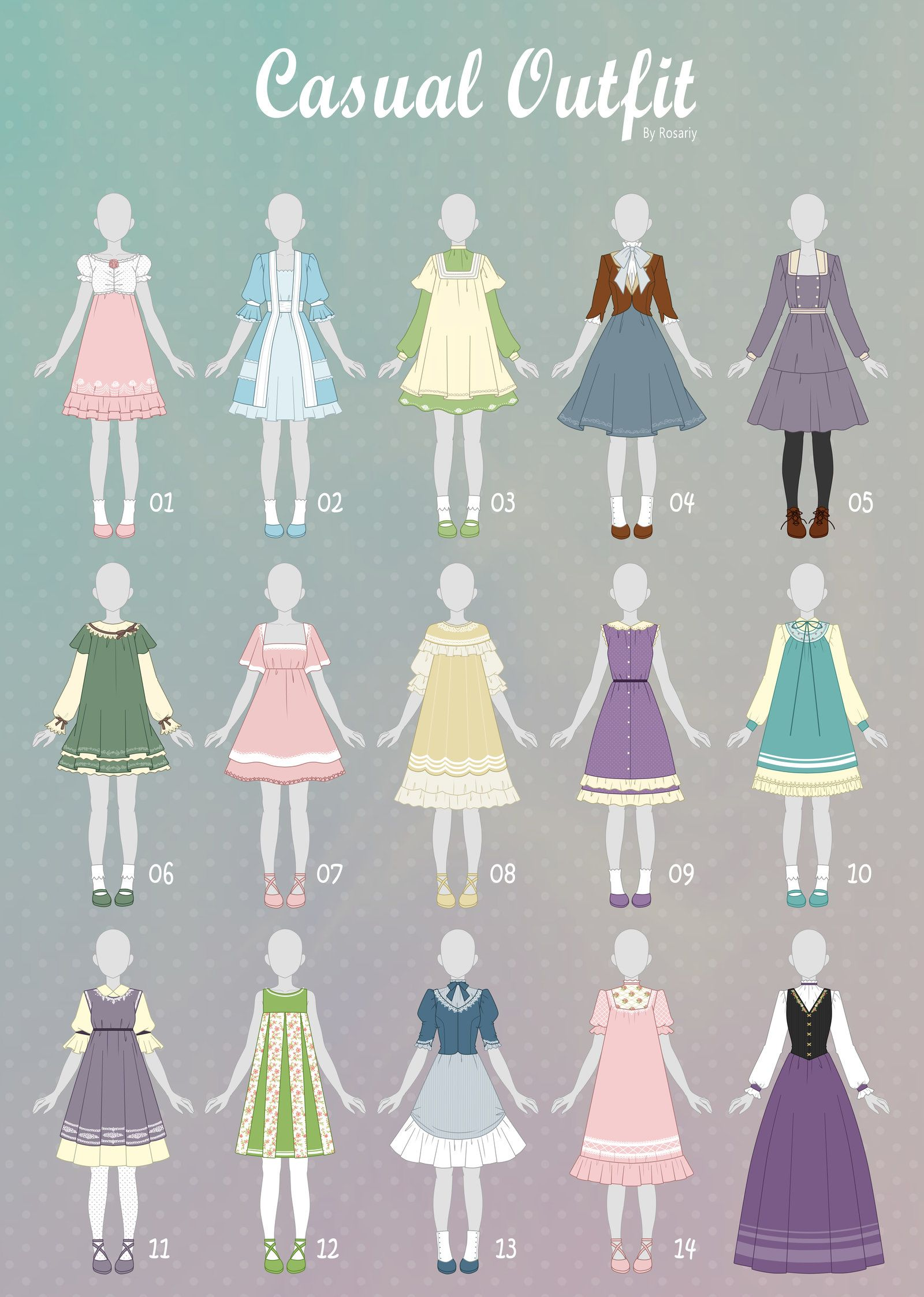(OPEN 10/15) CASUAL Outfit Adopts 35 by Rosariy (With ...