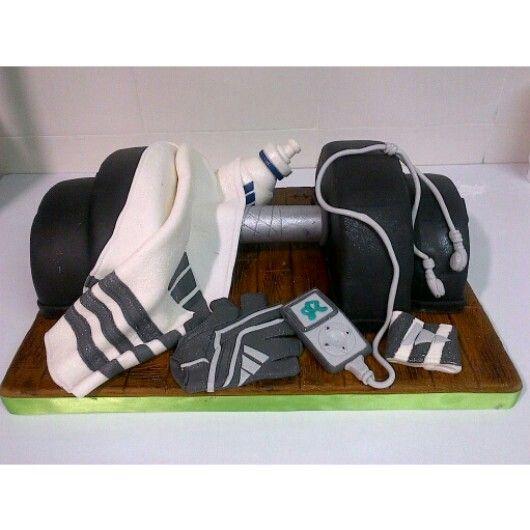 Cake Designs For Gym : Gym cake Recetas Pinterest Cakes, Groom cake and Gym ...