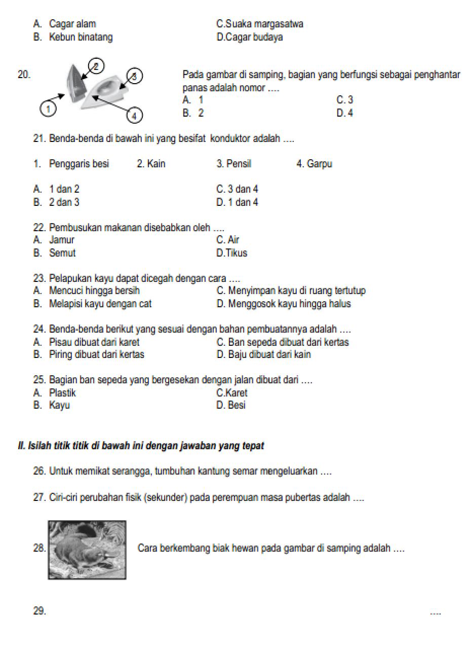 Soal Ipa Kelas 6 Penghematan Energi Dan Kunci Jawaban - Peranti Guru