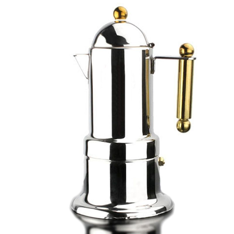 Free Shipping Golden Handle And Golden Knob 4 Cups500mlcup Moka