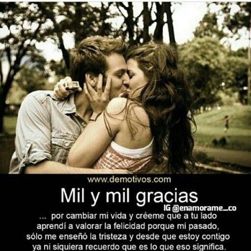 Mil Gracias Mi Amor 3 333 Pinterest Pensamientos De Amor