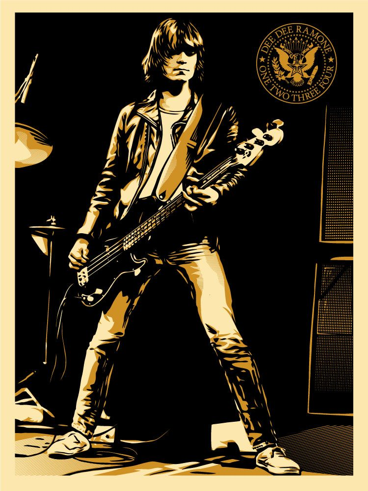 Art print POSTER Dee Dee Ramone Bass Player With The Ramones