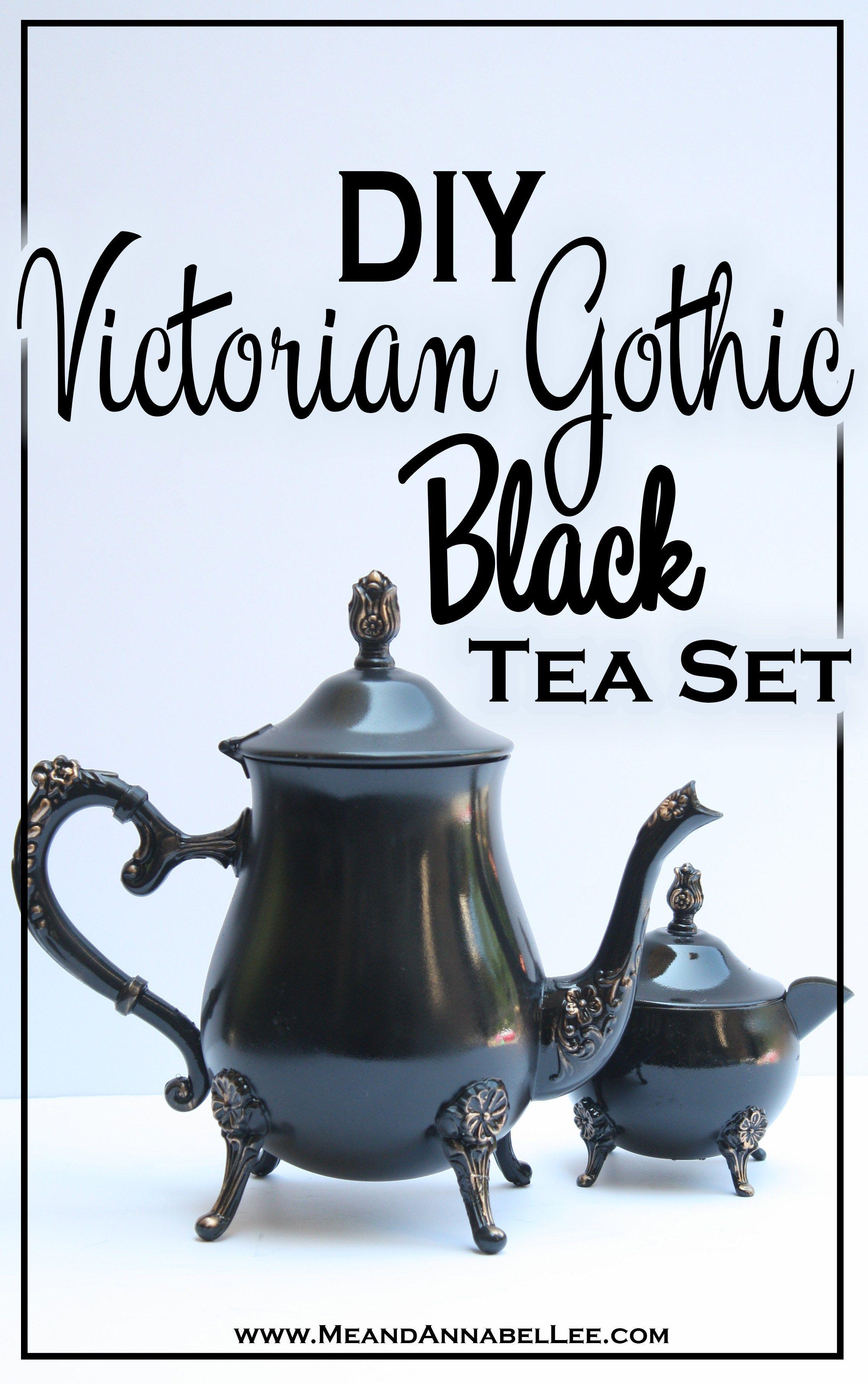 black gold victorian gothic diy tea set d d dµd
