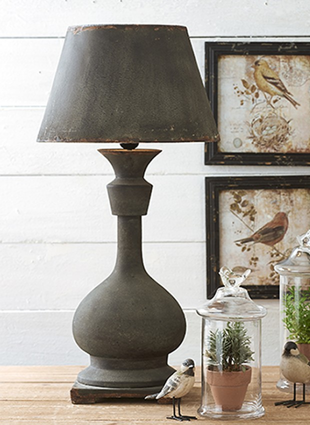Rusty Black Table Lamp With Metal Shade Black Table Lamps Table Lamp Lamp