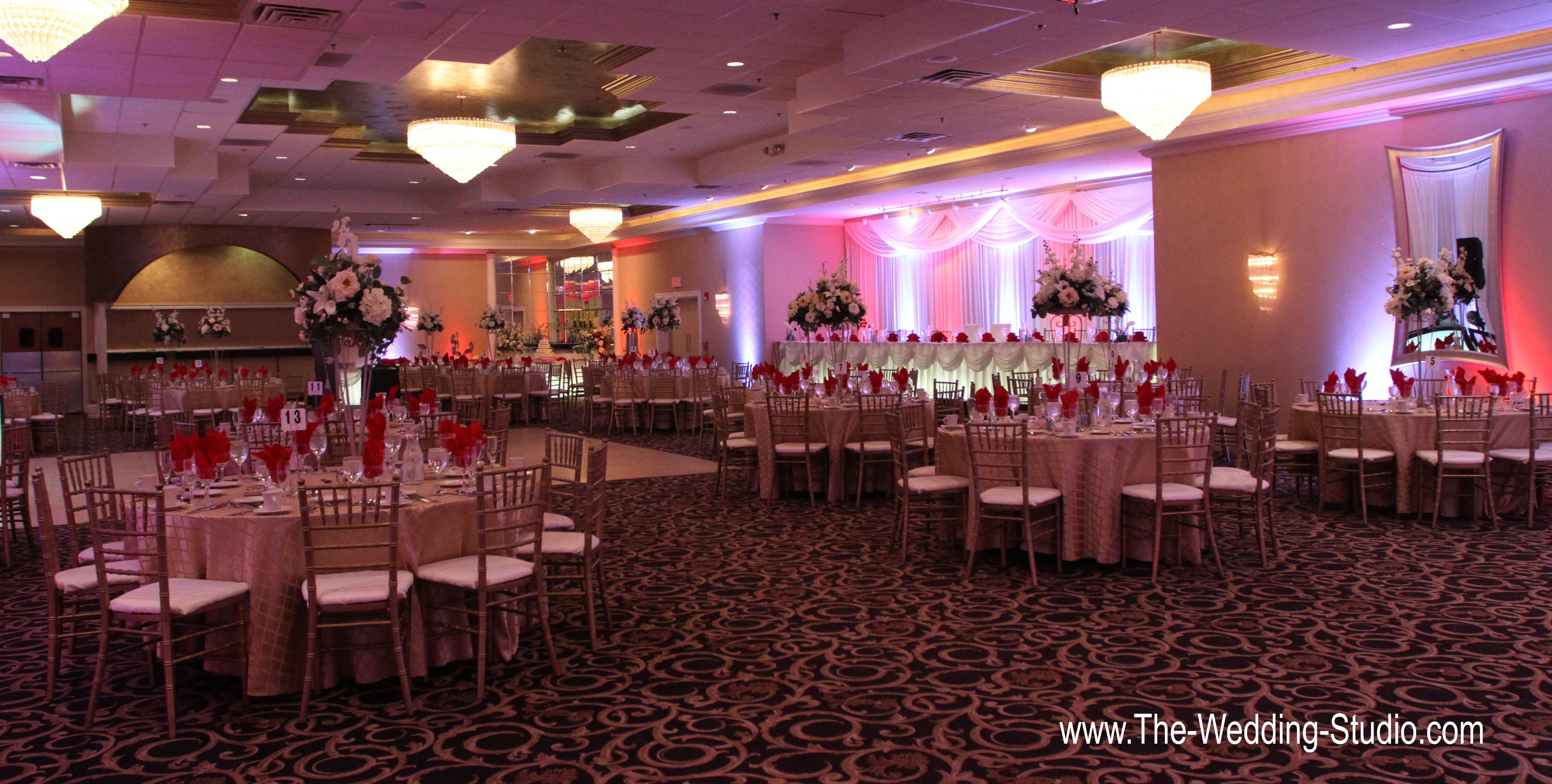 Ballroom Set Up For A January Wedding At The Seville Banquets In Streamwood Photographed By