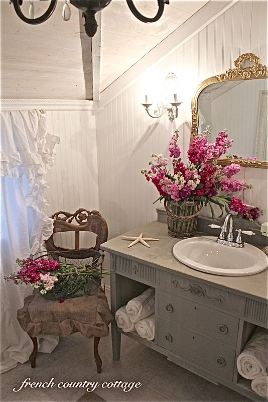 Petite Cottage Bathroom Makeover Cottage Bathroom French