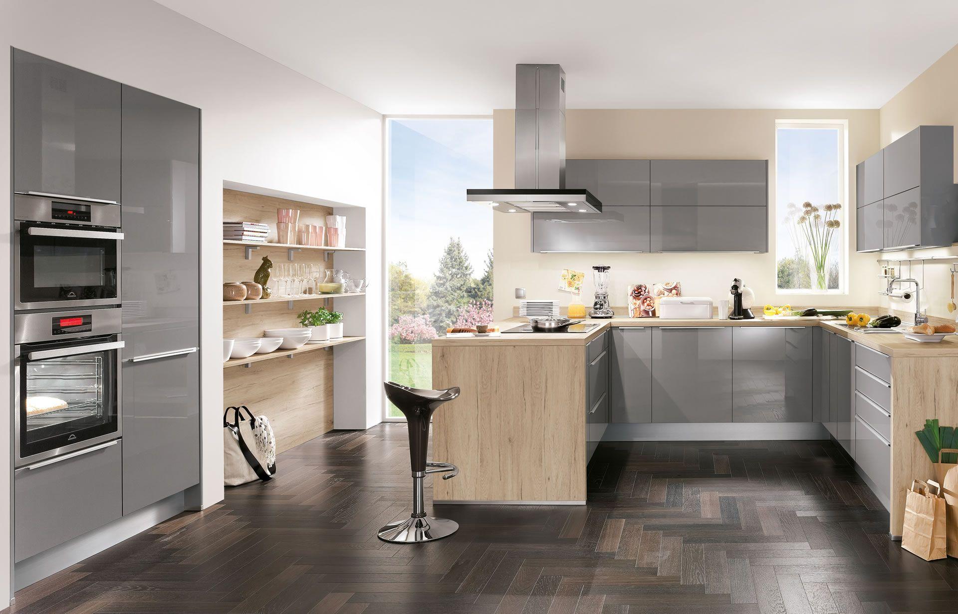 Nobilia küchen weiss hochglanz u form  nobilia Küchen - nobilia | Produkte | Uni farbig | Wohnen ...