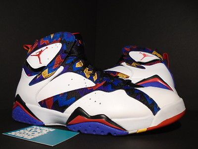 356abb5a7781bf Nike Air Jordan VII 7 Retro SWEATER NOTHING BUT NET WHITE RED BLACK CONCORD  10