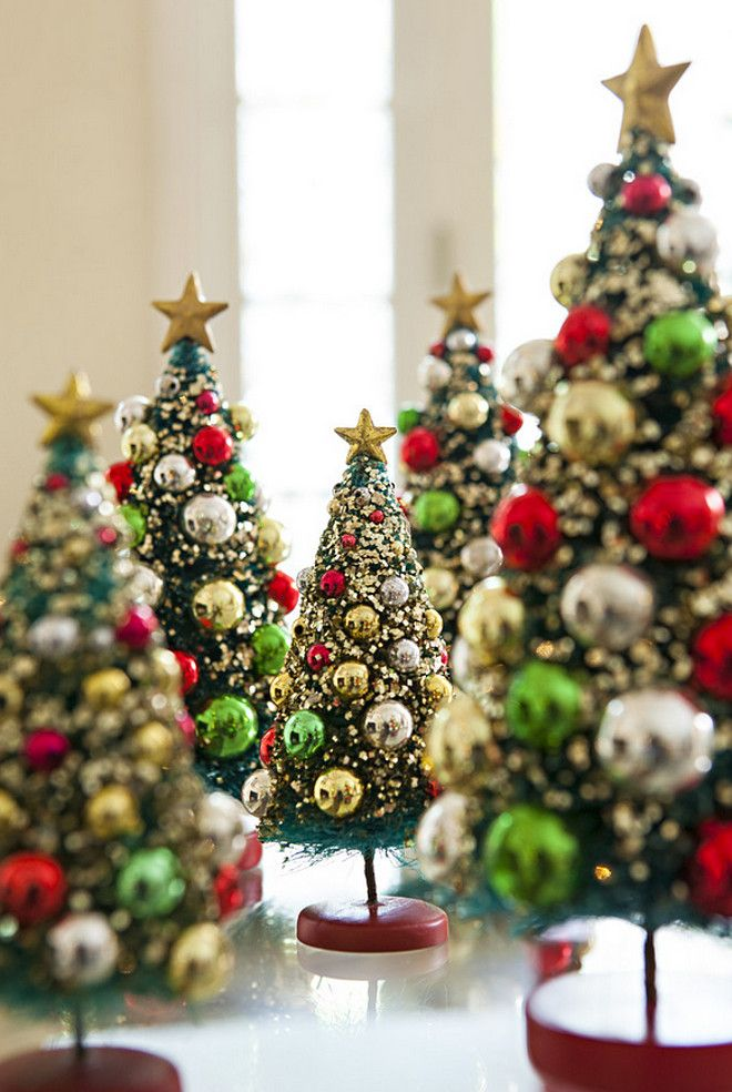 Mini christmas tree decor alison kandler interior design christmas decor christmas - Small christmas tree ideas ...