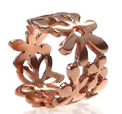 Sexy Lace Flower Rose Gold Ring Flowers by LiatWaldmanJewelry, $1050.00
