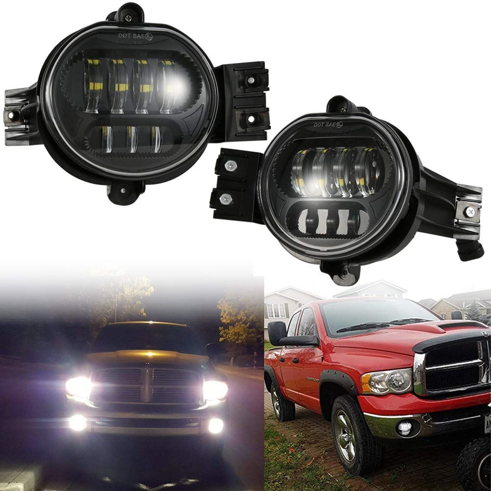 2019 New Version Led Fog Lights Passing Lamps For Dodge Ram 1500 2500 3500 Pickup Truck 2002 2003 2004 2005 2006 2007 2 In 2020 Dodge Ram 1500 Led Fog Lights Dodge Ram