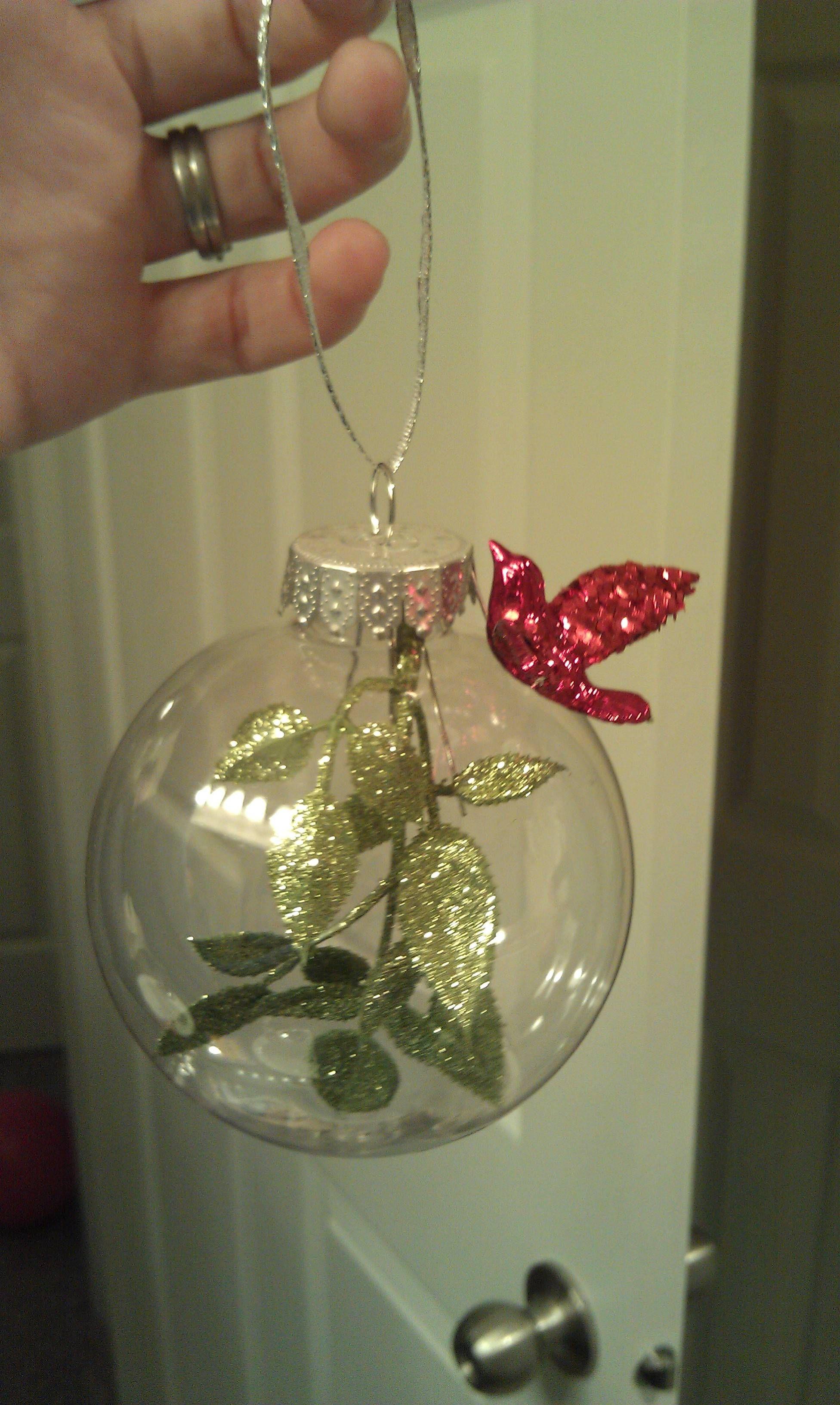 homemade Christmas ornaments.