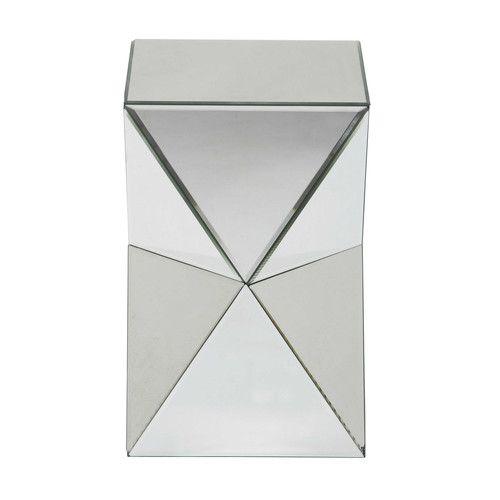 Beistelltisch Aus Spiegelglas Diamant Maisons Du Monde Bout De Canape Table De Chevet Miroir