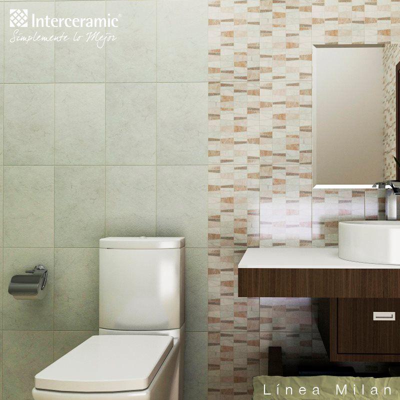 Divide con distintos diseños de #azulejo los #espacios del #baño - diseos de baos