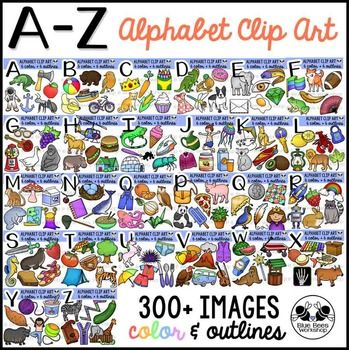 Alphabet Clip Art and Beginning Sounds A-Z Clipart Bundle ...