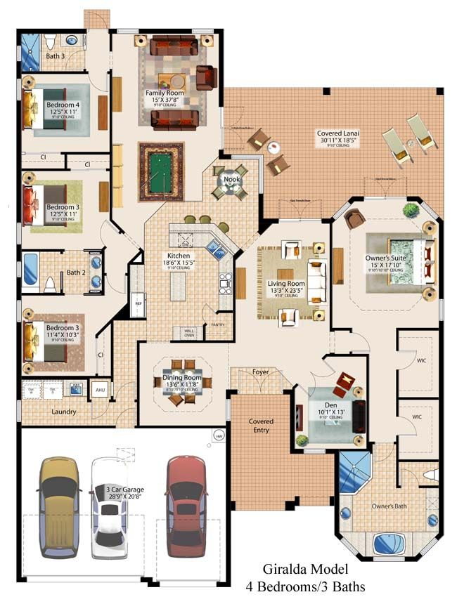 After eliminating bedroom 4 floorplan home decor for Casa floor