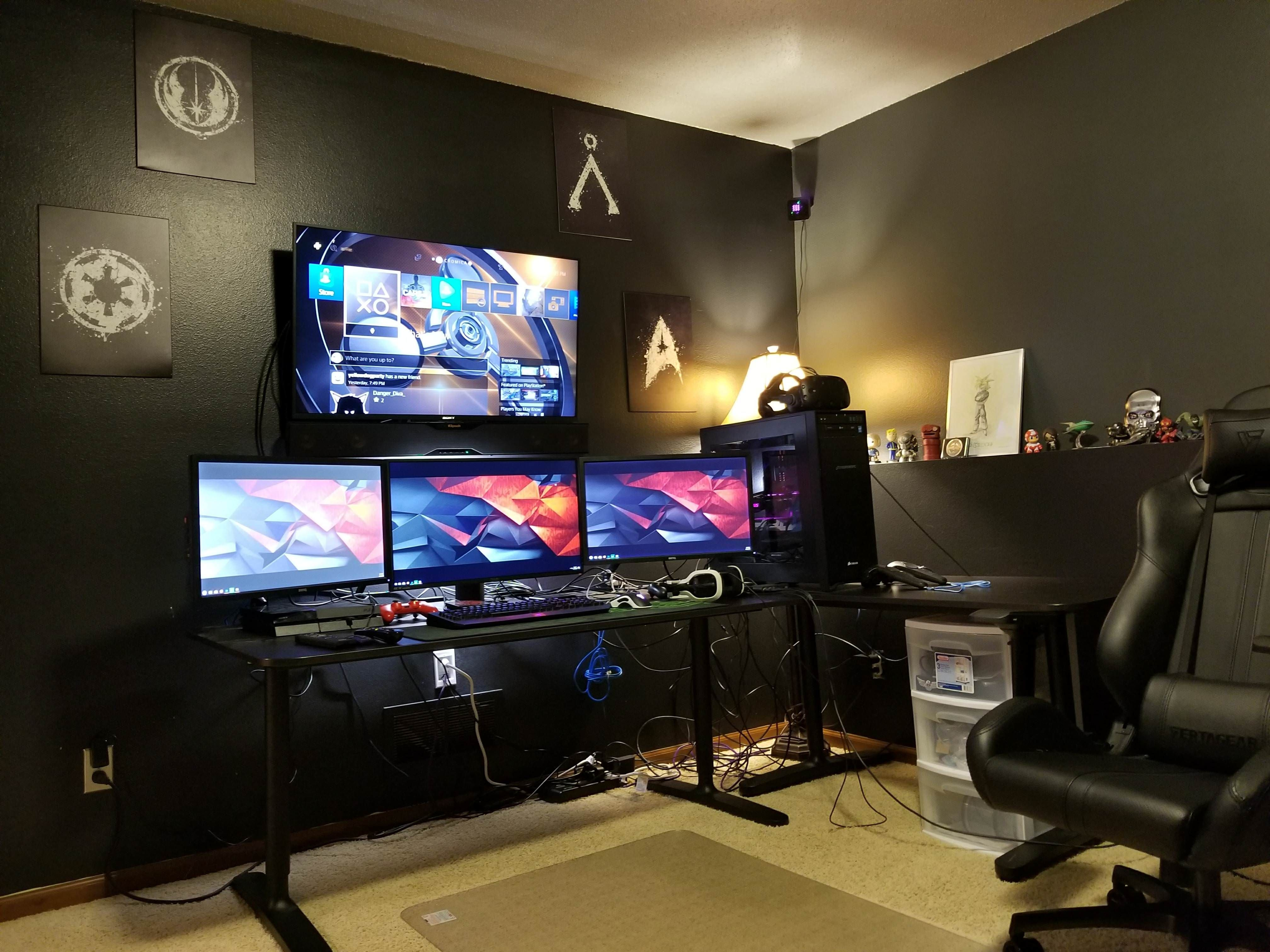ремонт комнаты геймера