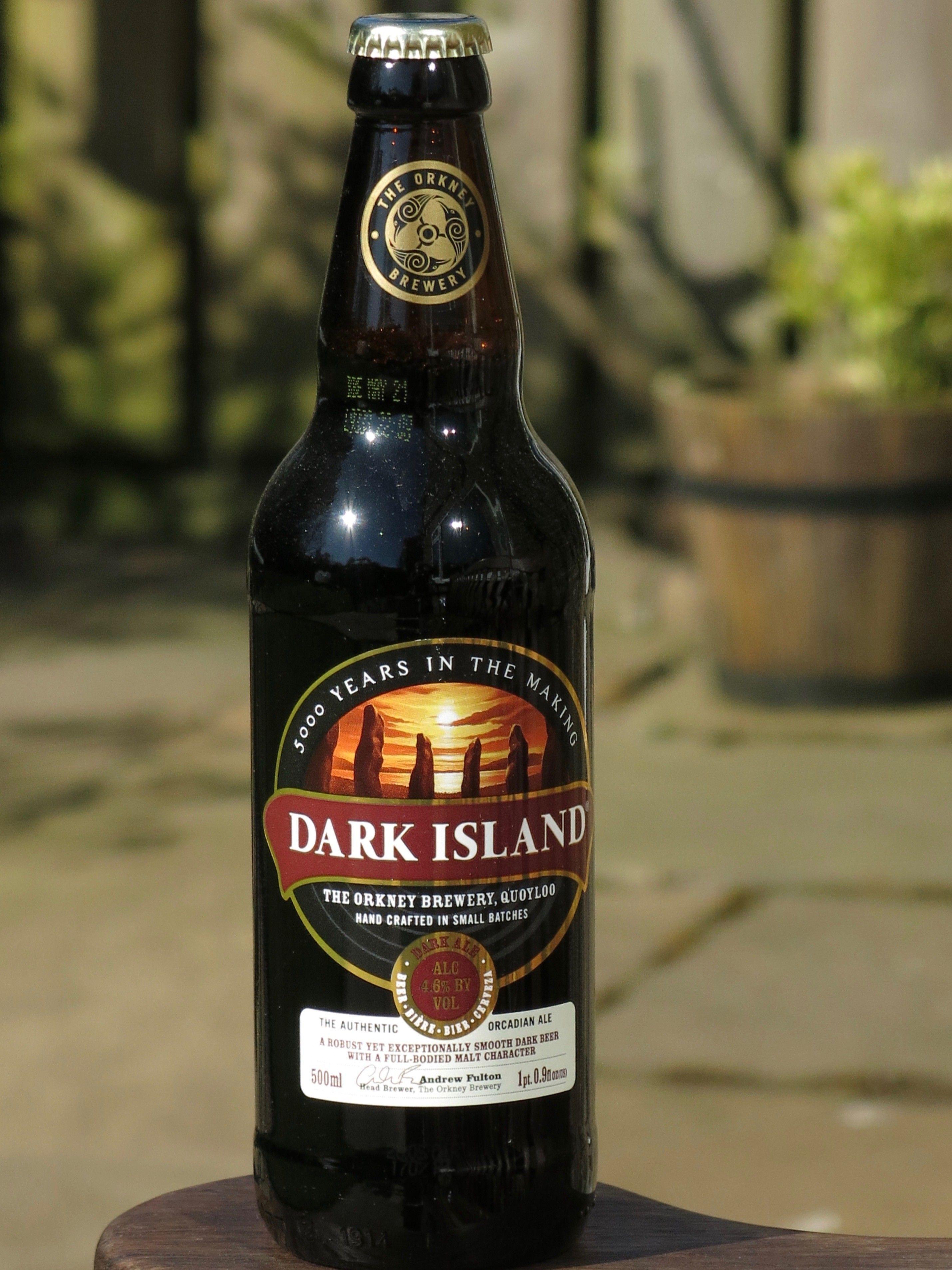 Dark Island - Dark Beer - 4.6% - The Orkney Brewery Quoyloo Stromness Orkney Islands Scotland