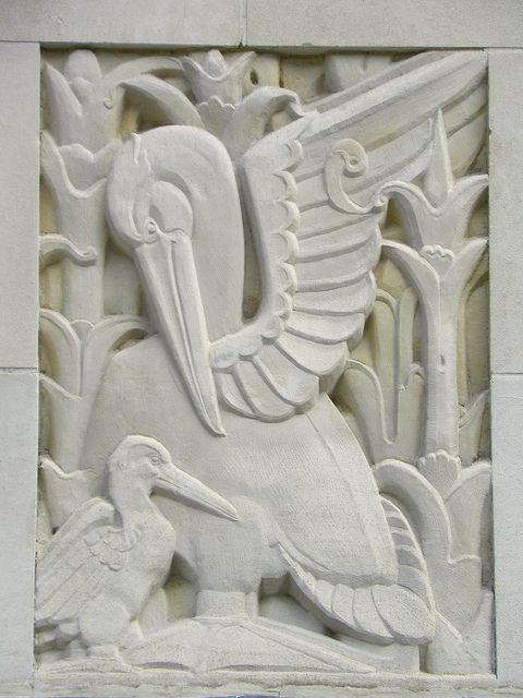 Art Deco Pelican Bas Relief - Cavendish Square   Art deco, App and ...