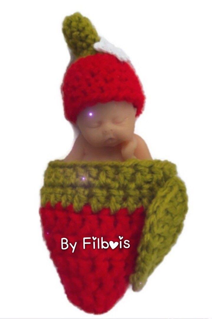 6a8fe6cd805 Bonnet miniature et nid d ange assorti type