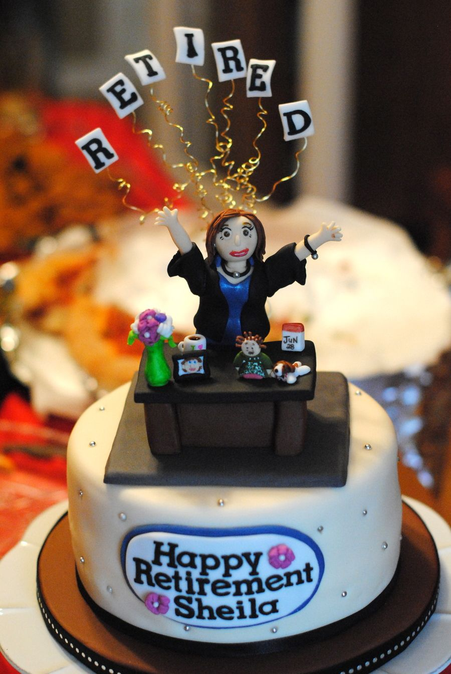 Sheila S Retirement Cake Con Imagenes Tortas De Jubilacion