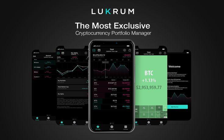 LUKRUM is the most exclusive cryptocurrency portfolio app