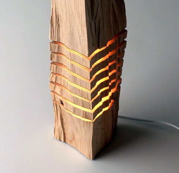 originelles holz lampen design … | lampen | pinterest | woodworking, Möbel