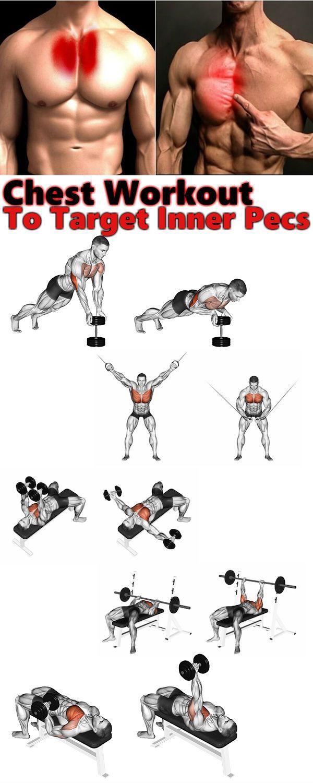 Brusttraining: 3 Übungen, um die inneren Brustmuskeln zu trainieren - Fitness #weighttraining
