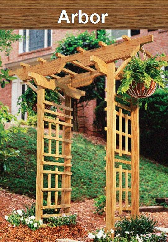 Arbor for your plants in the garden beautiful woodworking another do it yourself project from georgia pacific arbor pressure treated lumber solutioingenieria Gallery