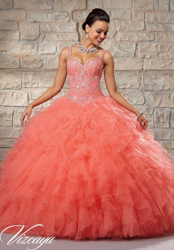 dc68e6027da The ultimate ballgown in coral  vizcaya89027  paparazziprom Quinceanera  Ideas