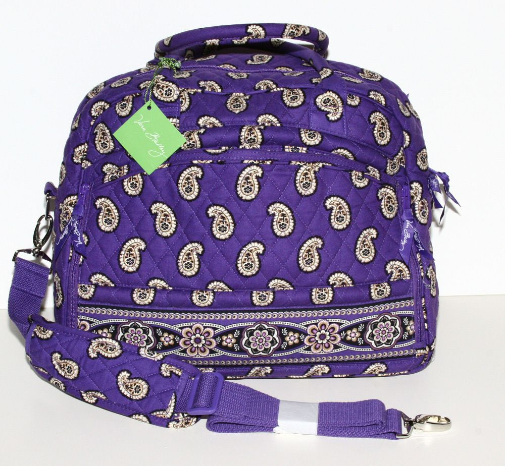 f21d5416bde4 Vera Bradley Metropolitan Bag Simply Violet Travel Laptop Organizer Cross  Body. I m gonna use the heck outta this traveling to Aruba!