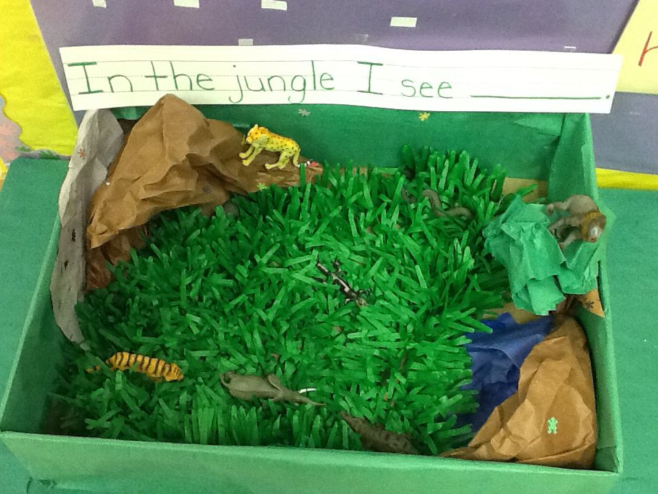 614771c1553f6 Sensory table idea for a jungle themed unit. Jungle Safari