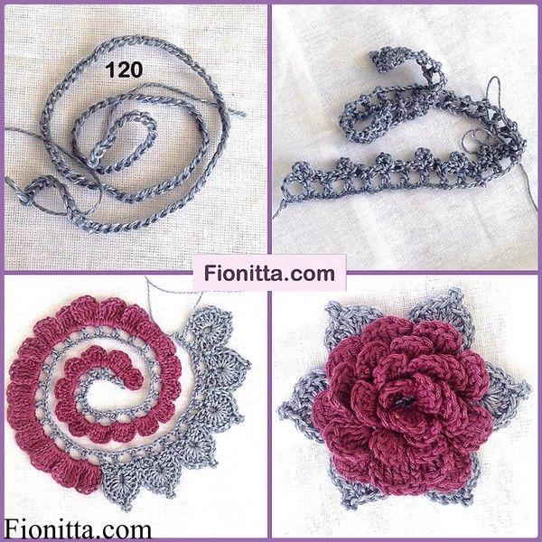 crochet flower pattern (17) | evita cassano | Pinterest | Croché ...