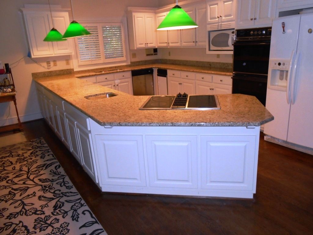 GIALLO ORNAMENTAL Granite 4 25 13 Granite Countertops Installed In Charlotte  NC 50/50 Sink