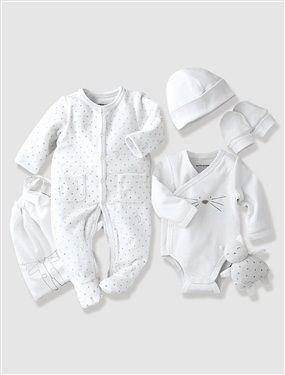 Unisexe Bébé Garçons Filles Little Lamb 5 Pièce Vêtements Layette Ensemble Cadeau
