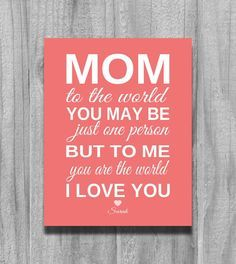 Mom Birthday Gift Personalized Christmas From Child For Mother Grandma Pas To Me You Are The