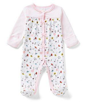 590d70b7d Starting Out Baby Girls Newborn-6 Months Poppy-Floral-Print Footed Coverall