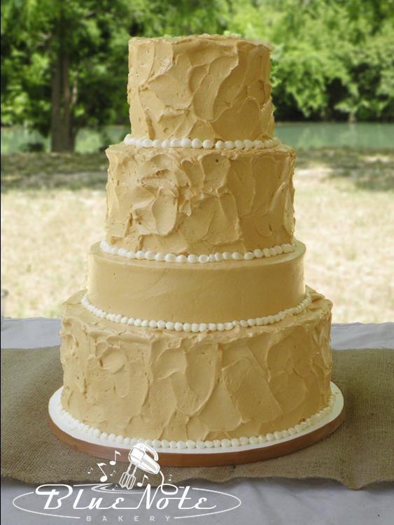 cream color - textured - 4 tiered wedding cake - simple wedding ...