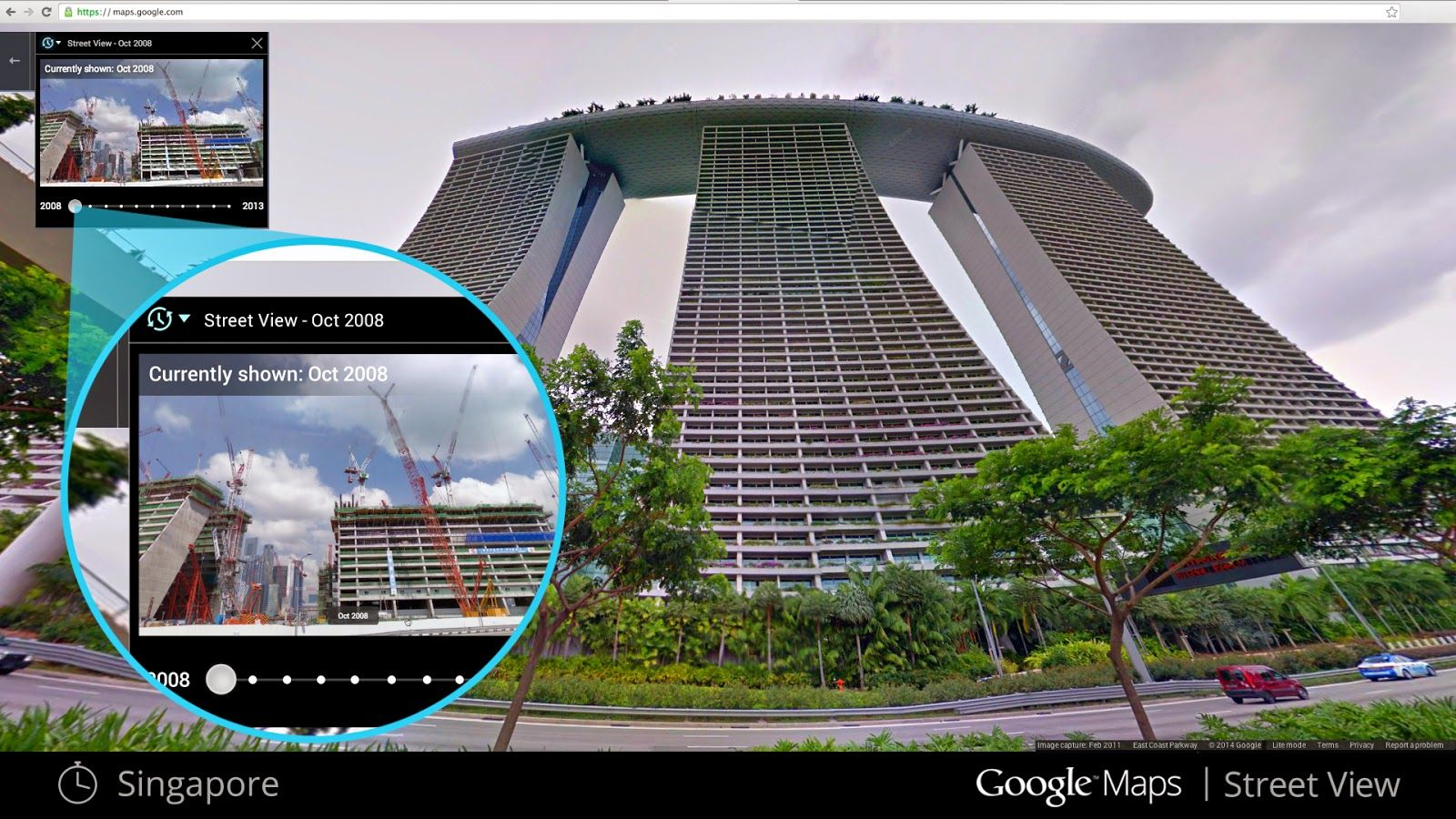 Official Google Blog Go Back In Time With Street View PLAyCES - Google maps earth online