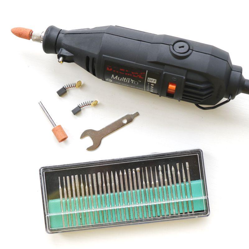 Tungfull 전기 앵글 그라인더 100-N/7 potray 5 기어 전원 도구 키트 220 볼트, 30 개 연삭 헤드 대한