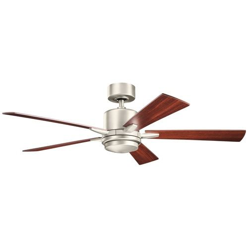 Kichler lighting kichler lighting lucian brushed nickel ceiling fan with light