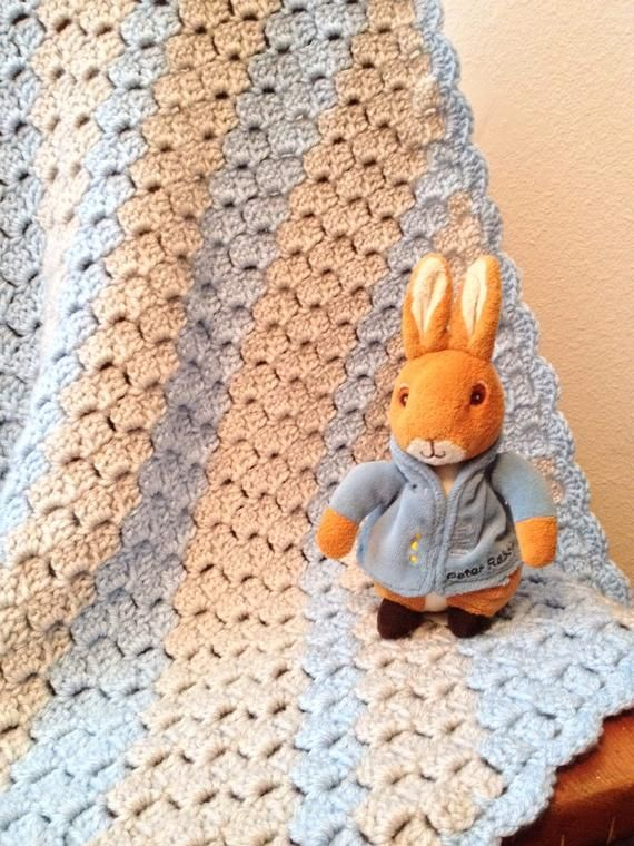 Photo of Baby Boy Blue Blanket (PATTERN ONLY)