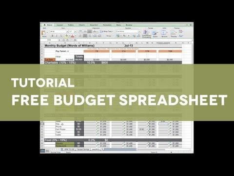 An excel budget template helps you to manage your expenses, needs - Free Budgeting Spreadsheet