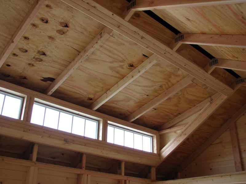 Craftsman style house inside a barn