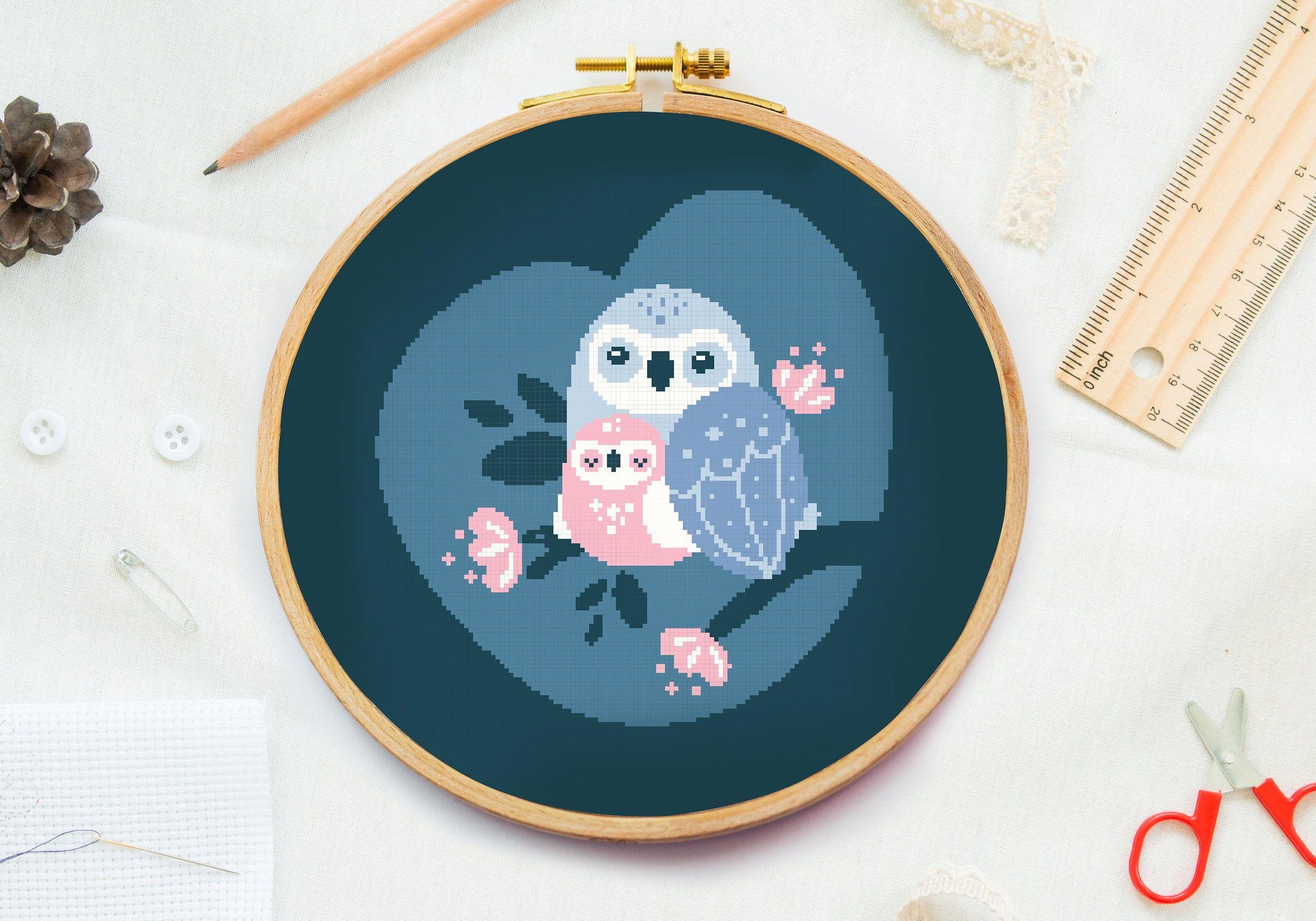 owl mother cross stitch pattern mom cross stitch pattern etsy cat cross stitch pattern cross stitch patterns cross stitch bird