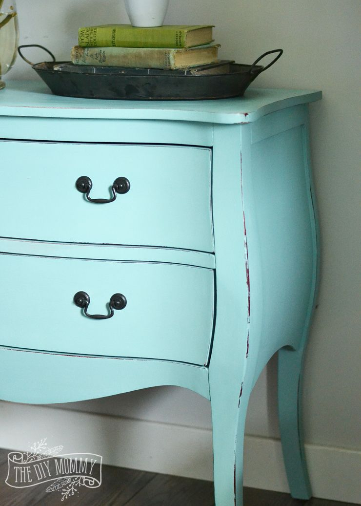 How To Paint A Piece Of Furniture In Under 3 Hours With DIY Chalk Style  Paint   Gorgeous Robinu0027s Egg Blue Chest Makeover!