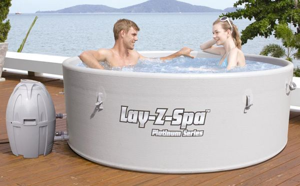 Small outdoor hot tub design ideas | Lay-Z-Spa Rigid Inflatable Hot Tub 1
