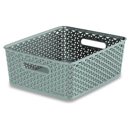 Decorative Bin Pale Mint Room Essentials Target Rectangle Storage Cube Storage Bins Storage Bin