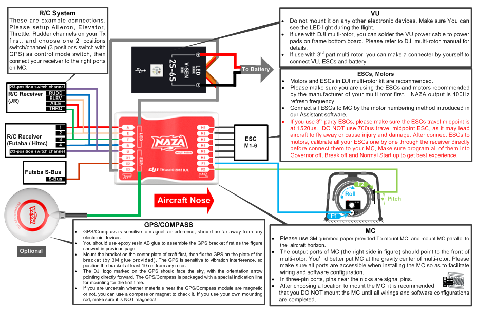 naza m connections png 931 608 pinterest drone rh pinterest co uk Boat Running Light Wiring Diagram 3-Way Switch Light Wiring Diagram