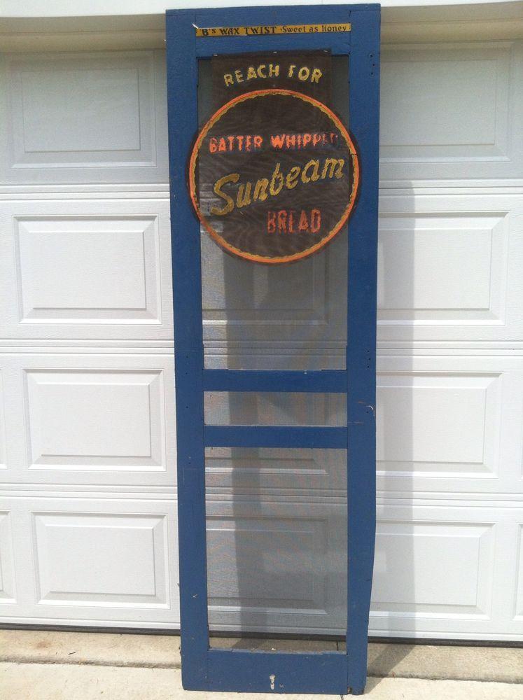 Vintage Sunbeam Bread Screened Door